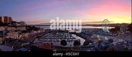 GB - DEVON: Torquay harbour at the golden hour - Stock Photo