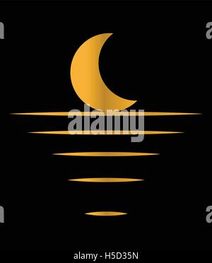 Moon Light Concept Design. Crescent, EPS 10 supported. - Stock Photo