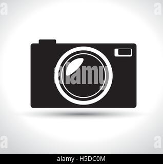 compact photo camera black design graphic - Stock Photo