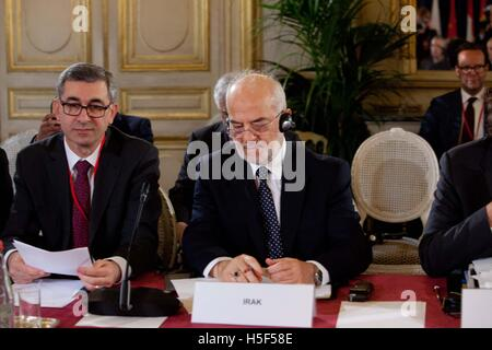 Paris, France. 20th October, 2016. The Ministerial Meeting for the stabilization of Mosul, Irak, Thursday 20 October, - Stock Photo