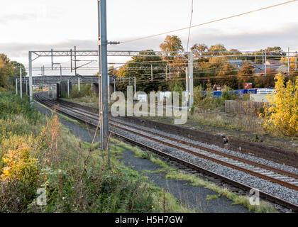 Castlethorpe disused railway station - Stock Photo
