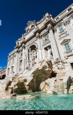 Trevi Fountain, Rome, Lazio, Italy - Stock Photo