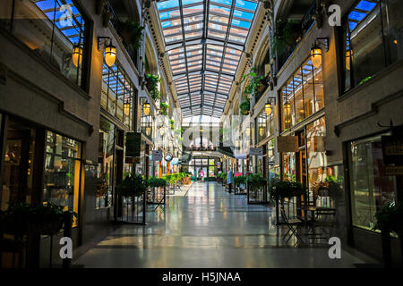 Inside the Grove Arcade shopping plaza in downtown Asheville NC - Stock Photo