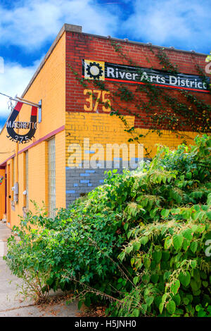 The Magnetic Theatre in the River Arts District of Asheville NC - Stock Photo