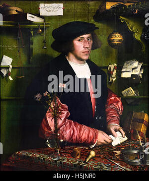 Der Kaufman - The businessman Georg Gisze 1532 Hans Holbein the younger (1497–1543 ) German Germany - Stock Photo