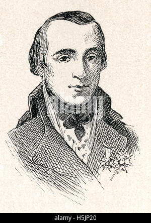 Louis Antoine de Bourbon, Duke of Enghien, 1772 – 1804.  Relative of the Bourbon monarchs of France, he was executed - Stock Photo