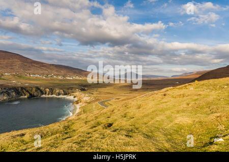 Atlantic road on Achill Island, County Mayo, Ireland. - Stock Photo