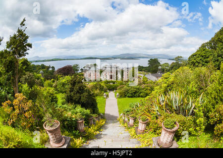 Bantry house and gardens in County Cork, Ireland - Stock Photo