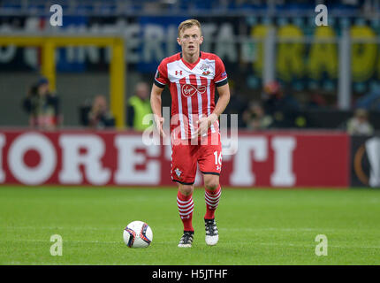 Milan, Italy. 20th Oct, 2016. James Ward-Prowse in action during the Uefa Europa League football match between FC - Stock Photo