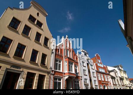 Historic buildings in Wismar, Mecklenburg-Western Pomerania - Stock Photo