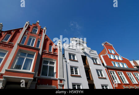Historic buildings in Wismar, Mecklenburg-Western Pomerania - Stock Photo