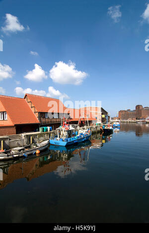 Old port of Wismar, Mecklenburg-Western Pomerania - Stock Photo