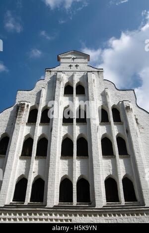 Historic building in Wismar, Mecklenburg-Western Pomerania - Stock Photo