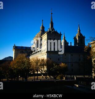 Spain San Lorenzo De El Escorial Monastery 16Th Century UNESCO World Heritage Site - Stock Photo
