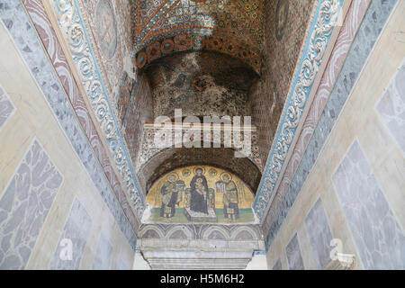 Mosaic in Hagia Sophia Museum, Istanbul, Turkey - Stock Photo