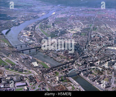 Looking West along the River Tyne, 1978 - Stock Photo