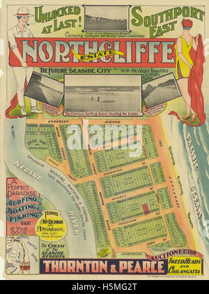 Real estate map of Northcliffe Estate, ca 1920s - Stock Photo