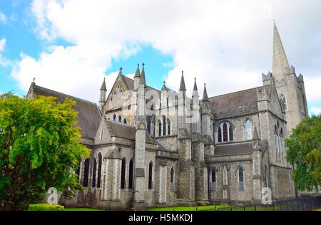 St. Patrick's cathedral in Dublin, Ireland - Stock Photo