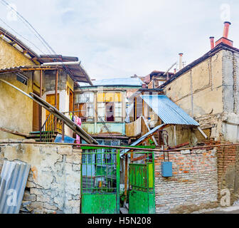 The slums occupy the large area in Tbilisi city center and consider as the landmark, Georgia. - Stock Photo