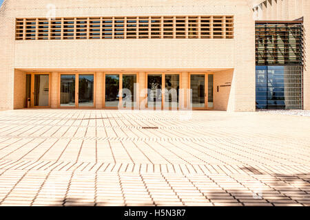 Parliament building in Vaduz town - Stock Photo
