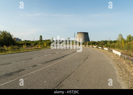 Unfinished tower of reactor 5 what were left unfinished after nuclear disaster. - Stock Photo
