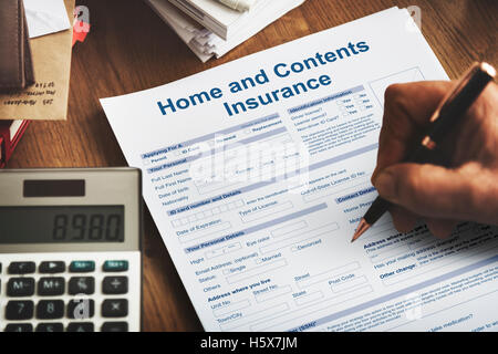Home Contents Insurance Protection Safety Concept - Stock Photo
