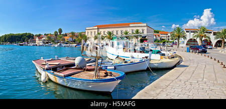 Stari grad on Hvar island panorama, Dalmatia, Croatia - Stock Photo