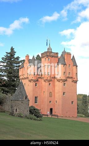 A view of Craigievar Castle, near Alford, Aberdeenshire, Scotland, United Kingdom. - Stock Photo