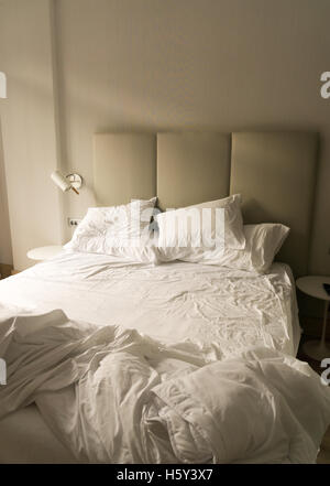 Unmade Bedsheets Stock Photo 178758691 Alamy
