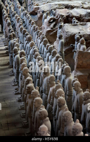 Terracotta Warriors Army, Pit Number 1, Xian, Shaanxi, China, Asia. An ancient collection of sculptures depicting - Stock Photo