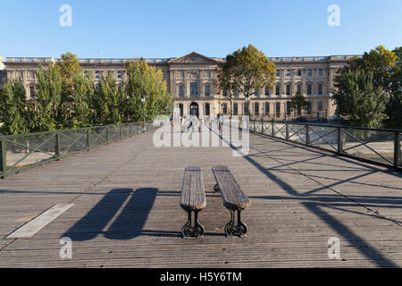 The Pont des Arts or Passerelle des Arts, Paris, France. - Stock Photo