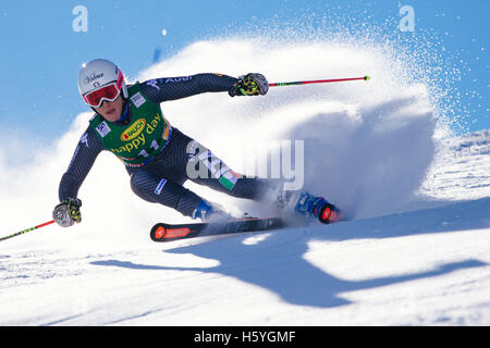 Solden, Austria. 22nd Oct, 2016. Nadia Fanchini of Italy competes during the first run of the FIS World Cup Ladies - Stock Photo