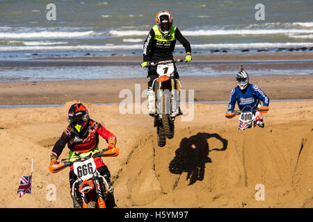 Margate, Kent, UK. 22nd October, 2016. BXUK Margate International Beachcross Credit:  Guy Corbishley/Alamy Live - Stock Photo