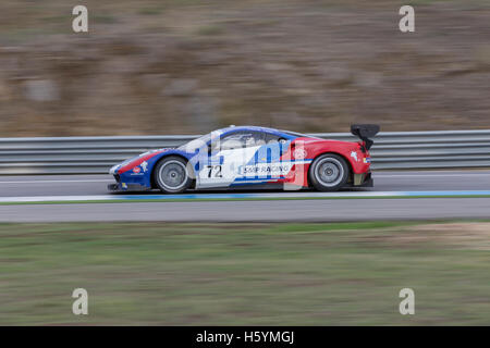 October 22, 2016. Estoril, Portugal. The #72 SMP Racing - Ferrari F488, driven by Aleksey Basov (RUS) and Victor - Stock Photo