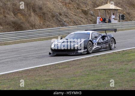 October 22, 2016. Estoril, Portugal. The #25 FF Corse - Ferrari F458, driven by Ivor Dunbar (GBR) and Johnny Mowlen - Stock Photo