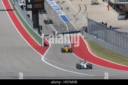 Austin, Texas, USA. 22nd October, 2016. 2016 Formula 1 United States Grand Prix Qualifying Race Day Two at Circuit - Stock Photo