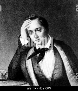 YEVGENY BARATYNSKY (1800-1844)  Russian poet - Stock Photo