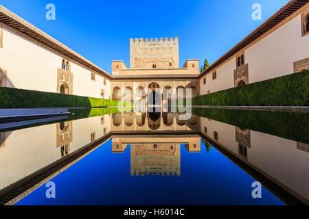 Alhambra of Granada, Spain. - Stock Photo