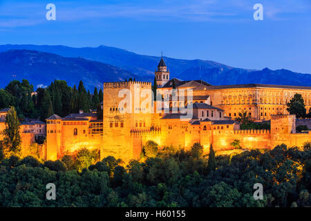 Alhambra of Granada, Spain. - Stock Photo