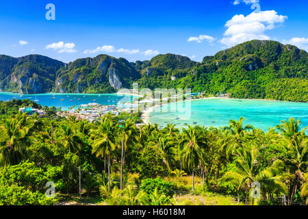 Thailand, Phi Phi Don island, Krabi province. - Stock Photo
