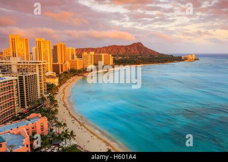 Honolulu, Hawaii. - Stock Photo