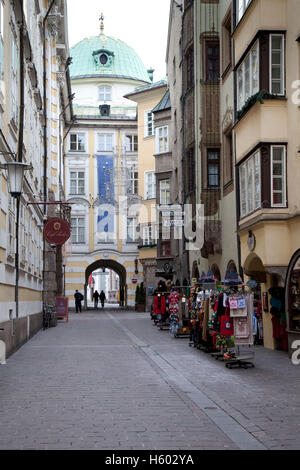 Hofgasse alley, provincial capital Innsbruck, Tyrol, Austria, Europe - Stock Photo