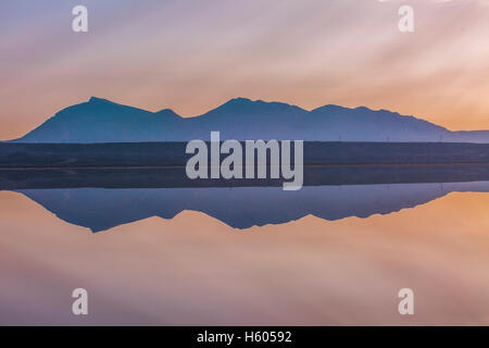 Abstract landscape with water reflection - Stock Photo
