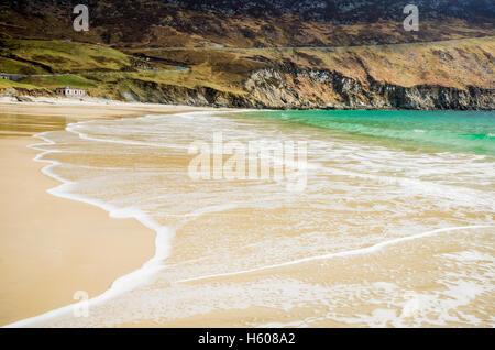 Keem Bay , Achill Island in Ireland - Stock Photo