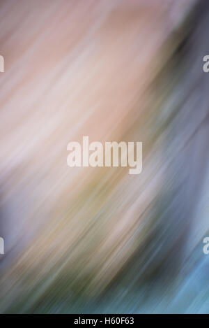 Abstract yellow, orange, blue and green blurry diagonal lines - Stock Photo