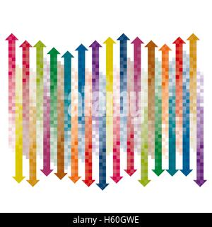 color checkered gradient arrows single layered - Stock Photo