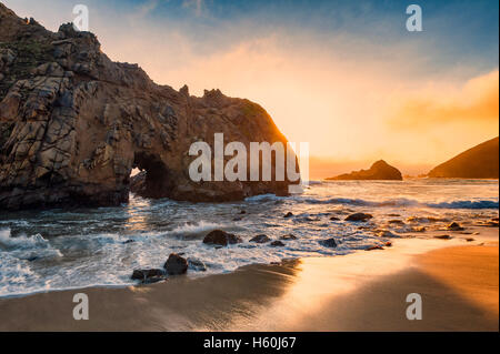 Pfeiffer Beach California - Stock Photo