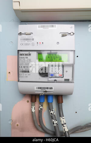 Smart gas meter can be read remotely and supply real time information to the home owner - Stock Photo