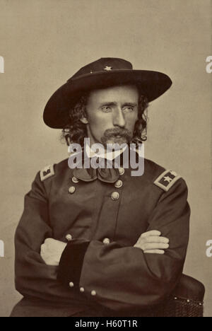 Major General George Armstrong Custer, Portrait in Uniform, Union Army, USA, 1865 - Stock Photo