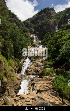 Rawana Ella Falls, Ella, Sri Lanka - Stock Photo